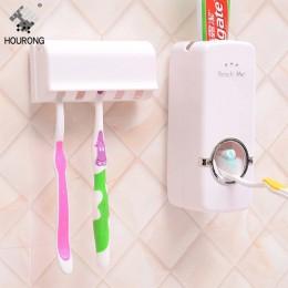 1 juego dispensador automático de pasta de dientes soporte de cepillo de dientes soporte de pared Almacenamiento de cepillos de