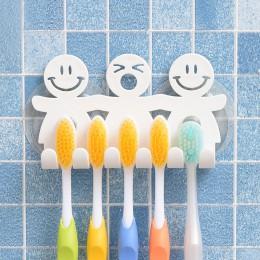Baño succión 5 posición soporte de cepillo de dientes soporte de pared divertido sonriente cara soporte para cepillo de diente o