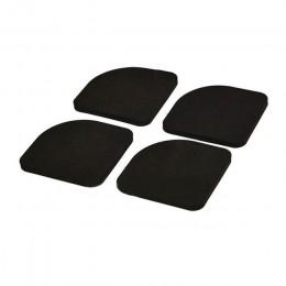 4 Uds. Multifunción lavadora almohadillas de silencio de choque 4 Uds./set refrigerador negro antideslizante Anti-esteras de vib