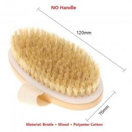 Cepillo 2 en 1 para el cuerpo, cerdas naturales, cepillo para el cuerpo, mango largo, cepillo para ducha de Spa de madera, cepil