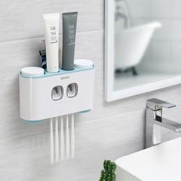 Soporte de cepillo de dientes de montaje en pared de ECOCO dispensador automático de pasta de dientes dispensador cepillo de die
