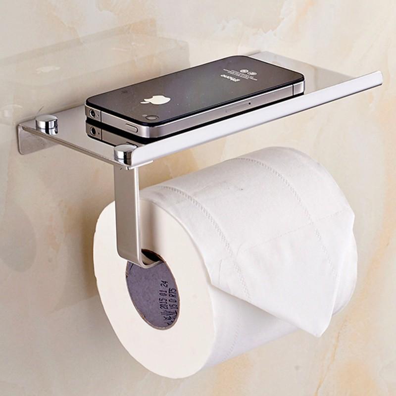 Soporte para teléfono y papel de cuarto de baño estante de ...