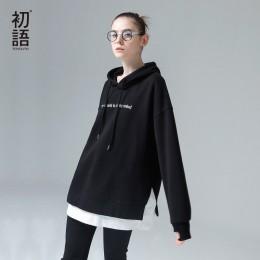 Toyouth Harajuku sudaderas con capucha sudaderas mujer 2019 moda Patchwork letras bordado con capucha chándal femenino coreano