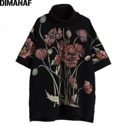 Sudaderas con capucha DIMANAF para mujer, Tops de talla grande, jersey de cuello alto negro para mujer, Otoño, algodón suelto, e