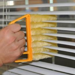 Cepillo de limpieza de ventana de microfibra útil limpiador de aire acondicionado limpiador de plumero con hoja ciega veneciana