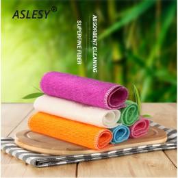 5 uds cocina Anti-grasa trapo de limpieza eficiente de fibra de bambú paño de limpieza del hogar utensilios de limpieza multifun