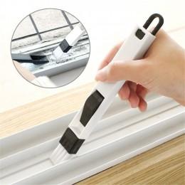 Más nuevo 2 en 1 ventana multipropósito cepillo para limpieza de teclado limpiador + recogedor de polvo 2 en 1 Herramienta nuevo