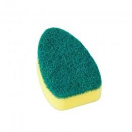 Plato lavado herramienta cepillo de limpieza cepillo jabón mango dispensador recargable tazones de esponja cepillo de limpieza d