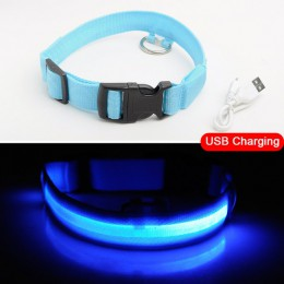 USB de carga Led cuello para perro Anti-Pérdida/evitar accidentes de coche Collar para perros cachorros collares para perros LED