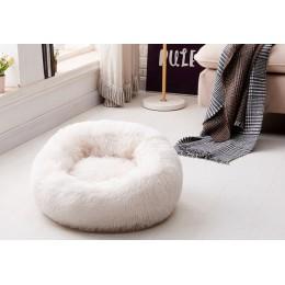 Cama redonda para perro Perrera de felpa larga lavable Casa de gato sofá de tapetes de algodón suave para perro pequeño grande C