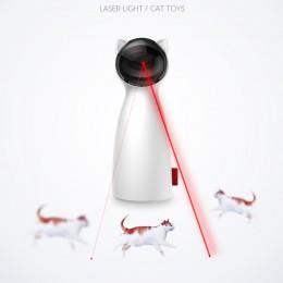 Creativo gato mascota LED láser divertido juguete inteligente automático gato ejercicio entrenamiento entretenido juguete multiá