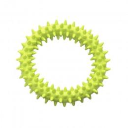 Perro mordiendo anillo de juguete de goma suave Molar juguete de limpieza de mordeduras de mascotas juguete dental aumento de la