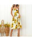 Sexy V cuello espalda descubierta Floral verano playa Vestido Mujer 2019 blanco Boho rayas botón girasol Margarita piña fiesta M