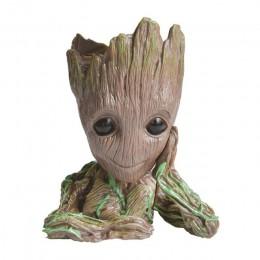 Pote de flor bebé maceta de Groot de figuras de acción de hombre-árbol modelo juguete para porta bolígrafos para niños creativos