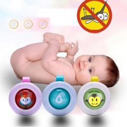 1/2/5/10 piezas de Color aleatorio repelente de mosquitos pulseras botones Mini ligero forma Linda conducción Mosquito bebé niño