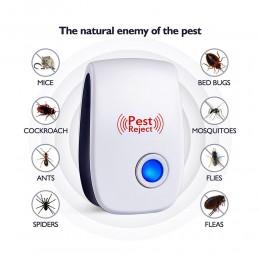 Repelente electrónico de plagas por ultrasonidos de rata ratón Multi-función roedor repelente de insectos Mini insecto asesino m