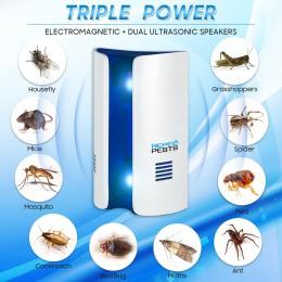 Conversión de frecuencia ultrasónico electrónico repelente de mosquitos ratones cucarachas mosquitos polillas mata insectos Cont