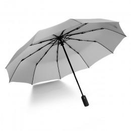 JPZYLFKZL paraguas plegable automático de diez huesos paraguas de lujo grande a prueba de viento para hombre lluvia pintura negr