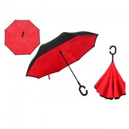 Paraguas reverso plegable Yesello de doble capa invertida a prueba de viento paraguas de lluvia para mujeres