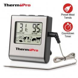 Termopro TP16 LCD cocina de Cocina Digital barbacoa termómetro de carne parrilla termómetro horno con temporizador y sonda de ac