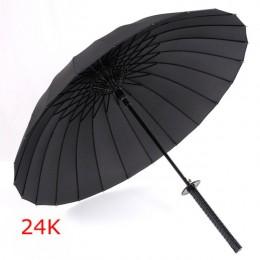 GQIYIBBEI creativo mango largo grande a prueba de viento paraguas espada de samurái japonés Ninja-como sol paraguas recto para l
