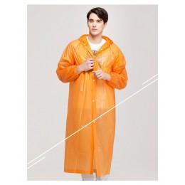Moda mujer hombre impermeable transparente de Eva portátil de viaje al aire libre impermeable al agua Camping con capucha Poncho