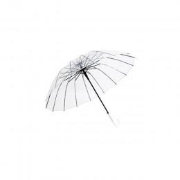 Paraguas transparente semiautomático para proteger contra el viento y la lluvia paraguas de mango largo claro campo de visión