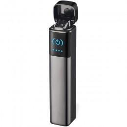 2019 Mini doble encendedor de arco de plasma Plaza encendedor eléctrico cigarrillo USB recargable encendedores fumar a prueba de