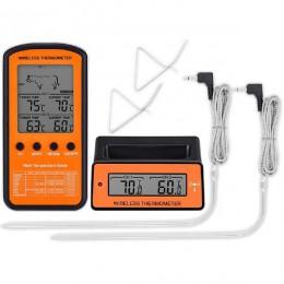 Termómetro inalámbrico BBQ remoto AsyPets doble sonda Digital para cocinar carne comida horno termómetro para asar a la parrilla