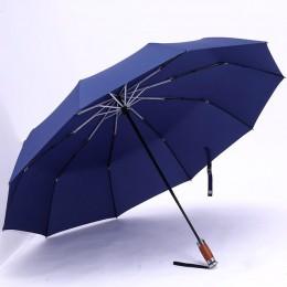 Marca genuina paraguas plegable grande lluvia 1,2 metros hombres de negocios paraguas automáticos a prueba de viento sombrilla p