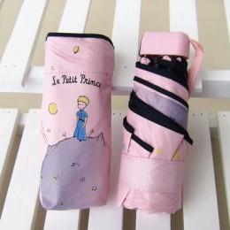 Paraguas de Príncipe pequeño de dibujos animados de Kocotree Paraguas plegables para mujeres sombrilla soleada para mujeres somb