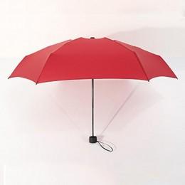 Popular 18 colores Mini paraguas de bolsillo mujeres UV pequeñas sombrillas Parasol niñas Anti-UV impermeable portátil ultralige