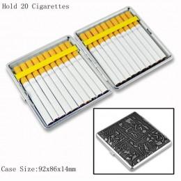 Soporte 12 14 16 18 20 ahumador caja para cigarrillos de cuero clásico caja de Metal para fumar caja de tabaco para regalo de ho