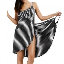 Vestido a rayas de verano para mujer con espalda descubierta Sexy de Wipalo 2019 cuello en V correa de espagueti para mujer cubi