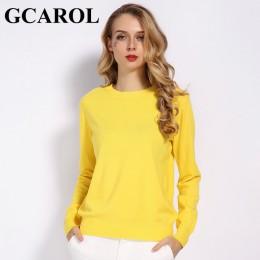 GCAROL 2019 Otoño Invierno Candy Knit Jumper mujeres 30% Lana suéter suave estiramiento OL hacer punto jersey punto S-3XL