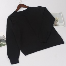 Gigogogou grueso Otoño Invierno mujer pulóver suéter de punto de calidad de moda suéter suave cálido femenino