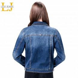 2019 LEIJIJEANS mujeres talla grande 6XL largo basical jeans chaqueta abrigo lejía manga larga solo pecho Delgado mujer chaqueta