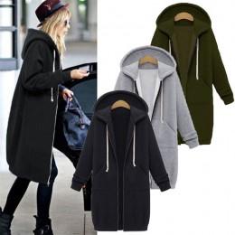 LASPERAL otoño invierno abrigo de mujer 2019 moda Casual larga cremallera con capucha chaqueta sudadera con capucha Vintage abri