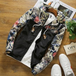 Chaqueta para mujer lusily cortavientos otoño talla grande 5XL cremallera casual con capucha Floral suelta chaqueta básica abrig