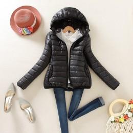 8-color actualización edición 2019 super caliente invierno parka chaqueta abrigo señoras mujeres chaqueta delgada corta acolchad
