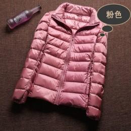 Chaqueta de plumón de pato blanco Ultra Light 90% abrigo de invierno para mujer 2018 chaqueta delgada de Invierno para mujer ade