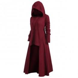 TryEverything chaqueta Punk gótica mujer negro con capucha más tamaño invierno 2019 abrigo mujer largo chaquetas y abrigos ropa