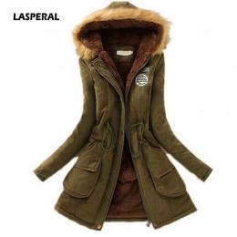 LASPERAL 2019 nueva Parkas mujer abrigo de invierno engrosamiento de algodón chaqueta de invierno moda mujer Outwear Parkas para