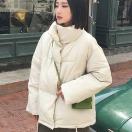 Otoño Invierno chaqueta mujer abrigo moda mujer Stand invierno chaqueta mujer Parka caliente Casual talla grande chaqueta Parkas