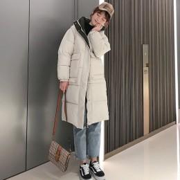 Abrigo de mujer con capucha abrigos largos Parka de gran tamaño chaqueta de color medio-largo chaqueta gruesa de Invierno para m