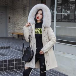 Nuevo abrigo largo para mujer otoño invierno cálido terciopelo grueso Imitación Piel abrigos Parka mujer sólido gran bolsillo ch