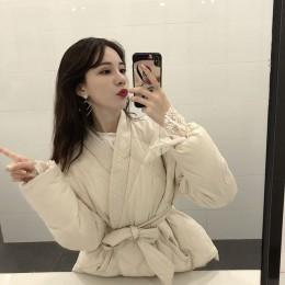 Hzirip 2019 nuevo diseño mujer invierno sólido Sashes abrigo grueso estudiantes de alta calidad Outwear Sweet Women Plus Size 2