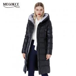Miegfce 2019 abrigo chaqueta de invierno para mujer con capucha cálido Parkas Bio Fluff Parka abrigo de alta calidad para mujer