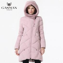 GASMAN 2019 nueva colección de invierno a la moda gruesa chaquetas de invierno para mujer con capucha Parkas abrigos talla grand