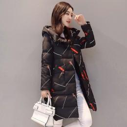 Elegante manga larga abrigada cremallera Parkas mujer chaqueta Oficina señora 2019 nueva moda invierno Chaqueta larga con capuch
